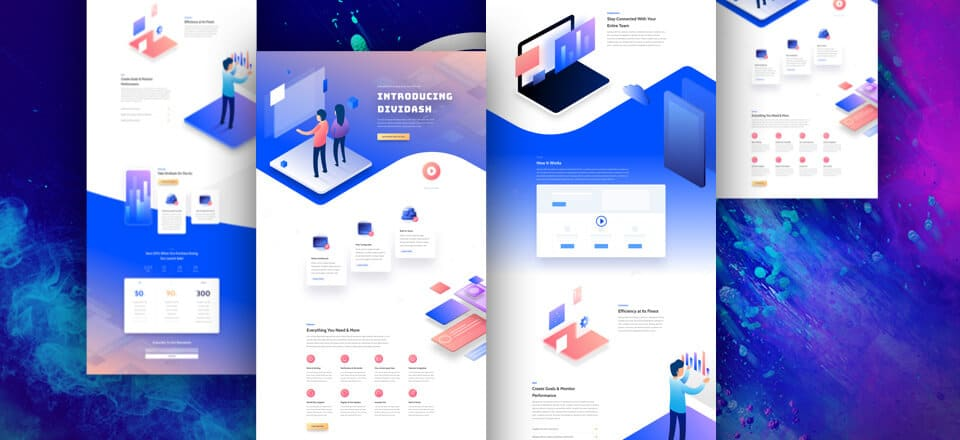 Software Release Landing Page