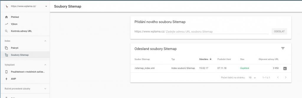 Soubory Sitemap