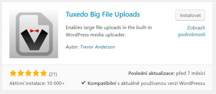 Tuxedo Big File Uploads