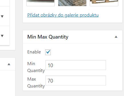Min Max Quantity