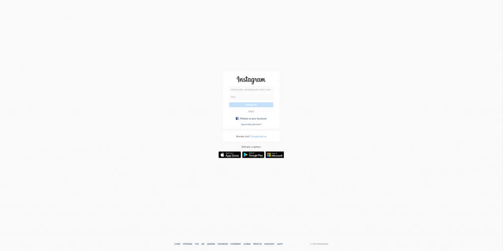 Přihlásit se • Instagram