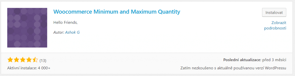 Woocommerce Minimum and Maximum Quantity
