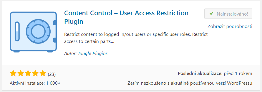 Content Control – User Access Restriction Plugin