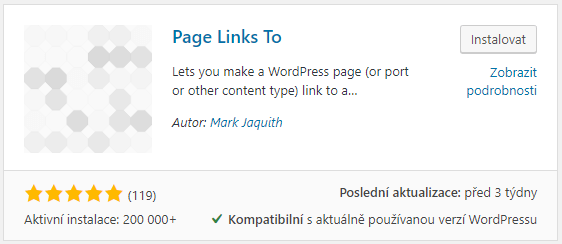 Plugin Page Links To