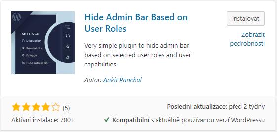 Hide Admin Bar Based on User Roles