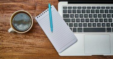 notebook a kafe