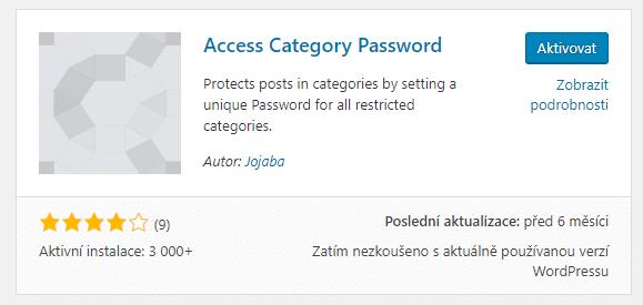 Access Category Password plugin