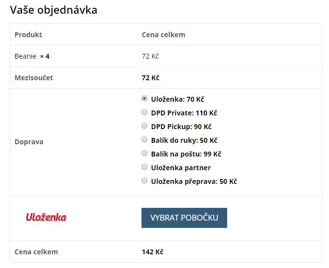 Výběr dopravců z Uloženky