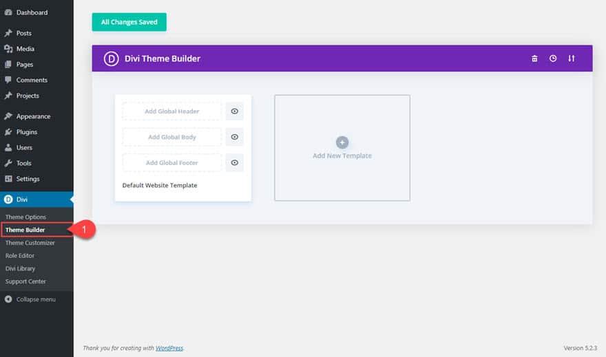 Theme Builder v Divi