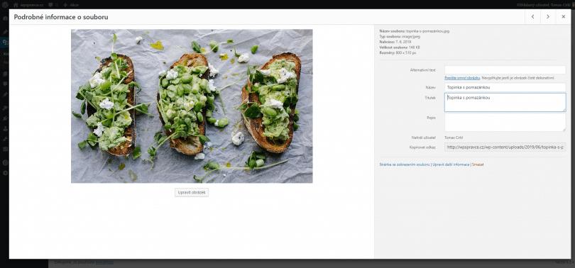 Mediální soubor ve WordPress