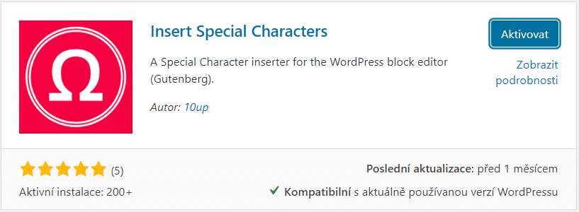 Insert special characters