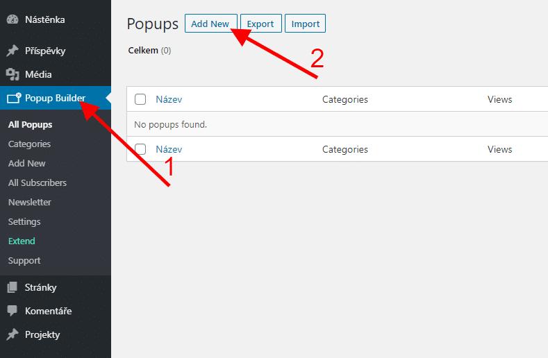 Vytvoření pop-up okna