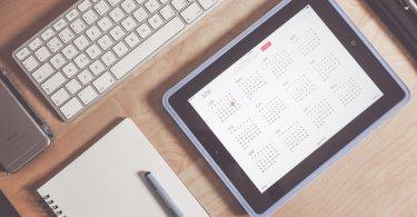 Kalendář a tablet