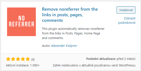 Remove noreferrer from the links in posts, pages, comments
