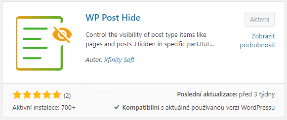 WP Post Hide