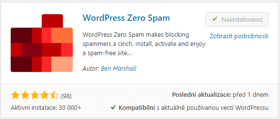 WordPress Zero Spam
