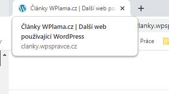 Zobrazení textu v záložce prohlížeče