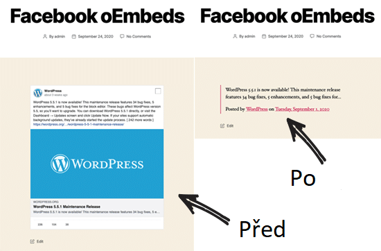 Facebook embed ve WordPress