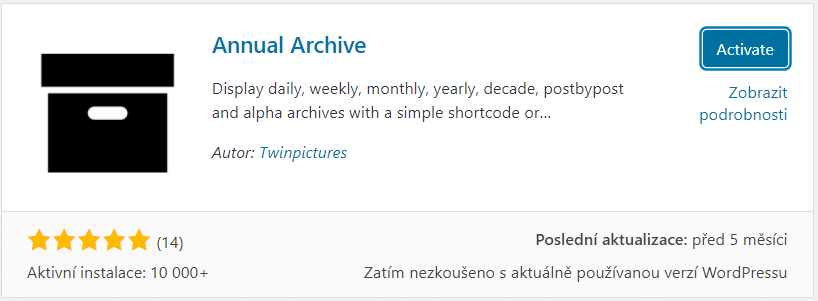 Plugin Annual Archive
