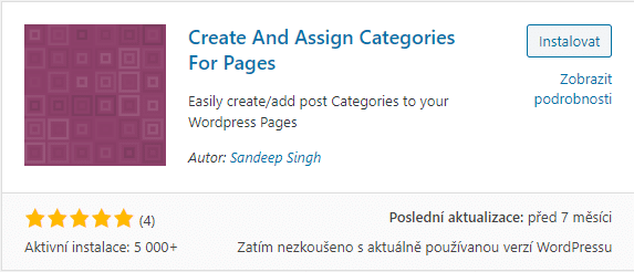 Create And Assign Categories For Pages
