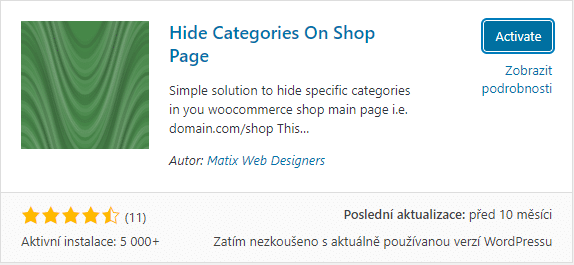 Hide Categories On Shop Page