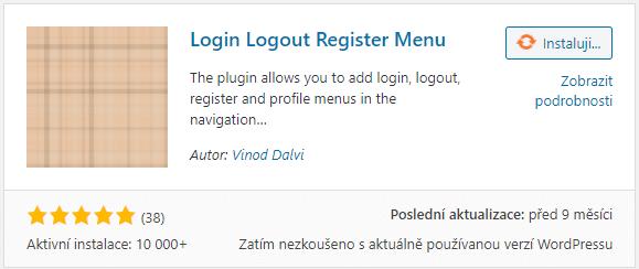 Login Logout Register Menu