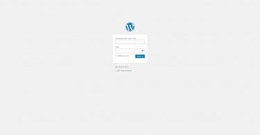 WordPress přihlášení