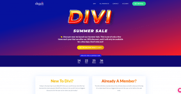 Divi Summer Sale 2021