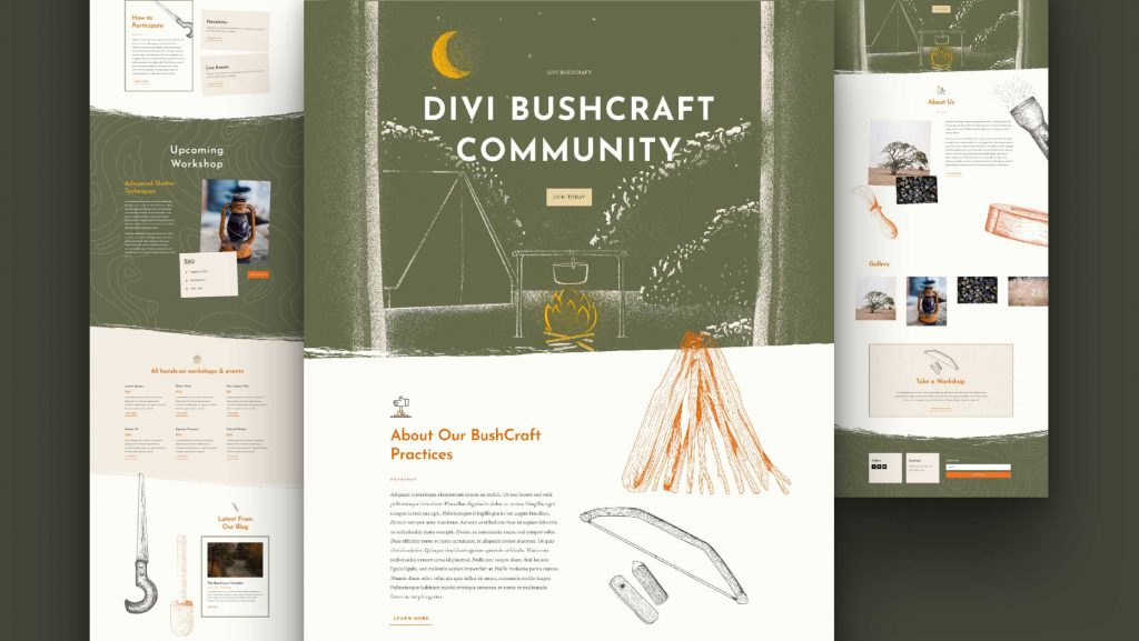 Bushcraft layout pack featured image