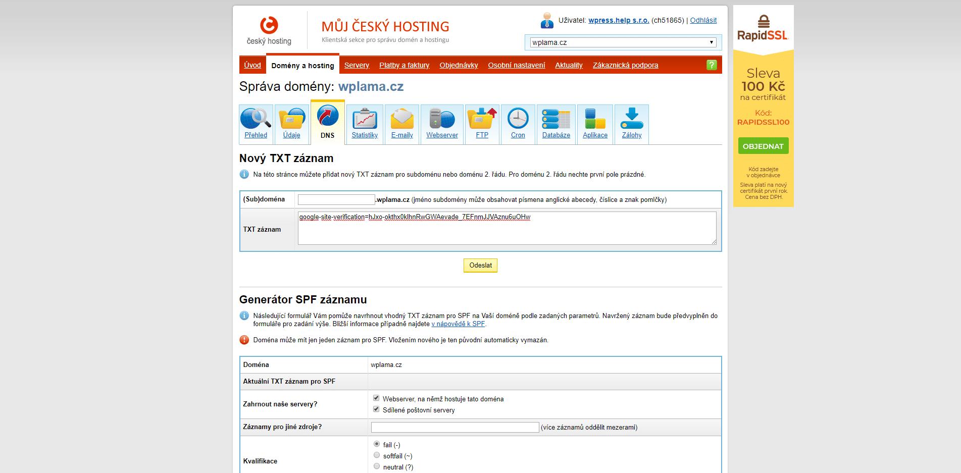 weby s připojením zdarma